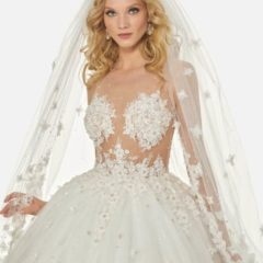 trouwjurk Randy Fenoli Bridal R3424 close up