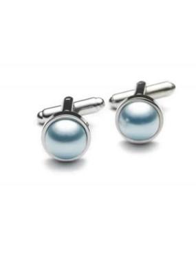 Lichtblauwe Manchetknopen C1-302-HP