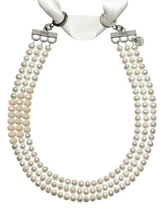 DRKS Ketting Pearl Shuffle Nude FB01 Nude
