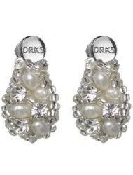 Oorbellen Royal Small Ivory van DRKS RE01S