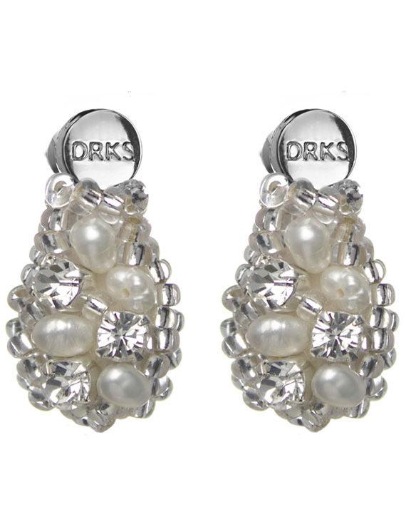 Oorbellen Royal Small Ivory van DRKS RE01S