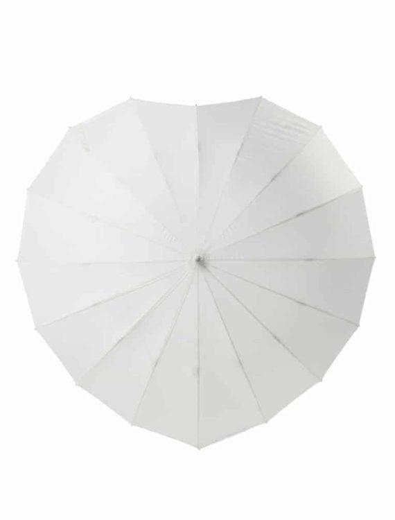 Hartvormige Paraplu met tekst