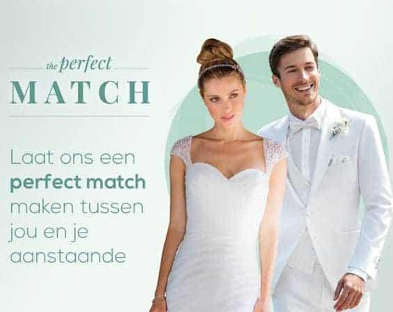 Perfect match tussen bruid en bruidegom
