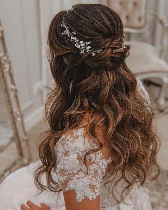 bruidskapsel met los haar 1