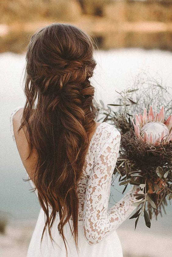 Bruidskapsel los haar 13