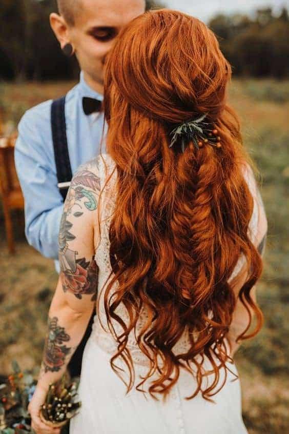 Bruidskapsel los haar 15