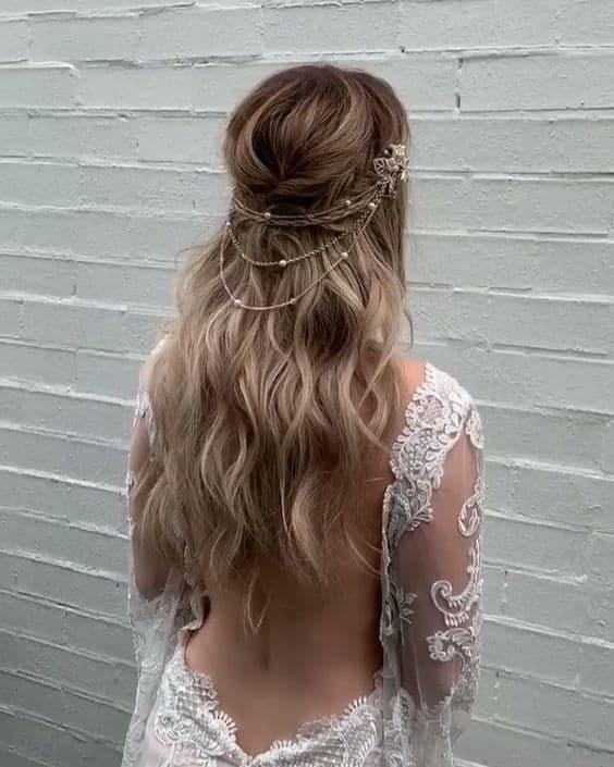 Bruidskapsel los haar 2