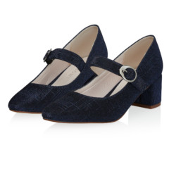 Annemarie Navy Metallic 6
