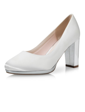 Bruidsschoen Clair ivory/silver