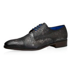 Dwight Grey Floral Calf Leather 1