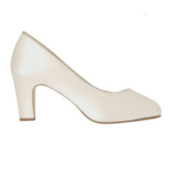 Hailey Ivory Satin-Gold Piping 2