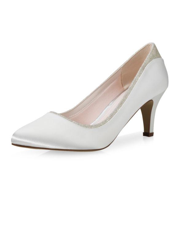 Jara Ivory Satin-Silver Fine Glitter 1