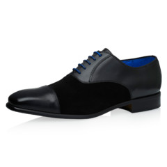 Jarno Black Calf Leather-Suede 1