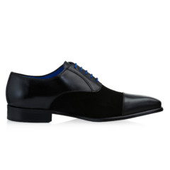 Jarno Black Calf Leather-Suede 2