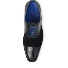 Jarno Black Calf Leather-Suede 4