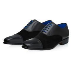 Jarno Black Calf Leather-Suede 6