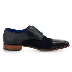 Jarno Dark Blue Calf Leather-Suede 2