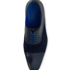 Jarno Dark Blue Calf Leather-Suede 4
