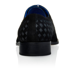 Kristof Black Suede-Grosgrain Fabric 5