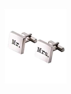 Manchetknopen Mr & Mrs