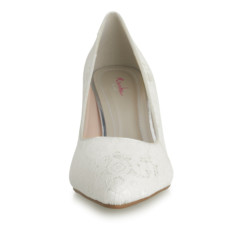 Pattie Ivory Satin and Ivory Luxury Lace 3