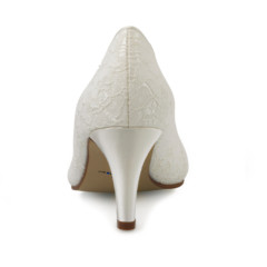 Pattie Ivory Satin and Ivory Luxury Lace 5