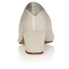 Preslie Ivory Satin-Silver Fine Glitter 5