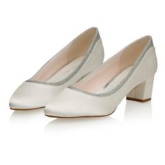 Preslie Ivory Satin-Silver Fine Glitter 6