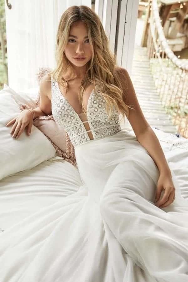 Boho trouwjurk Rebecca Ingram