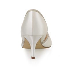 Teddie Ivory Satin Silver Fine Glitter 5