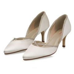 Teddie Ivory Satin Silver Fine Glitter 6