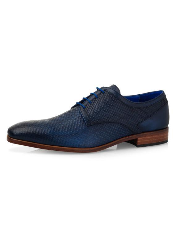 Xavier Dark Blue Texas Calf Leather 1