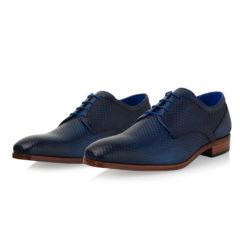 Xavier Dark Blue Texas Calf Leather 6