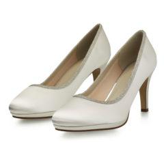 Yanna Ivory Satin Silver Fine Glitter 6