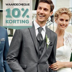 10% korting op trouwpak