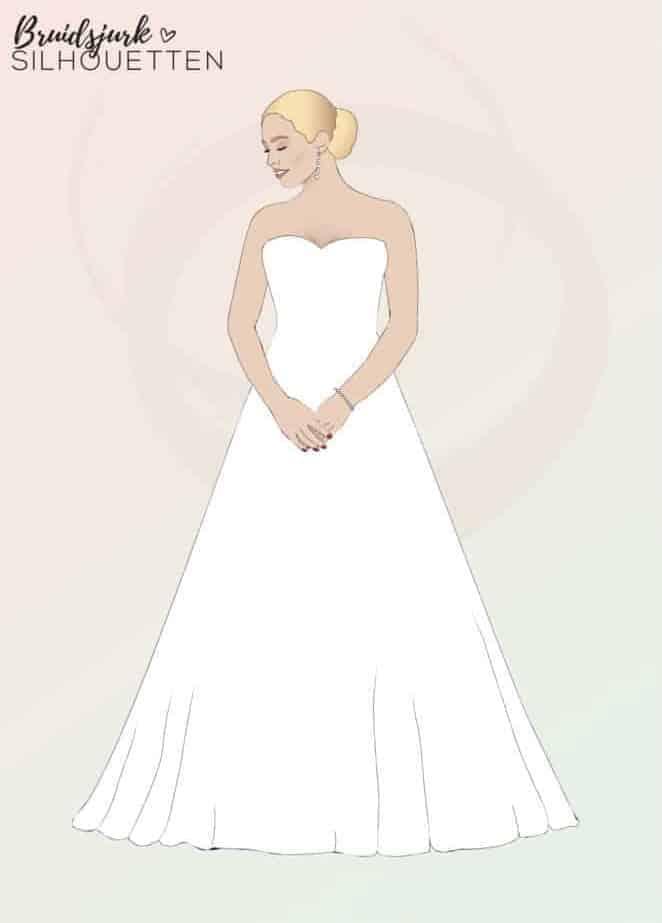 A-lijn silhouet trouwjurk Honeymoon shop