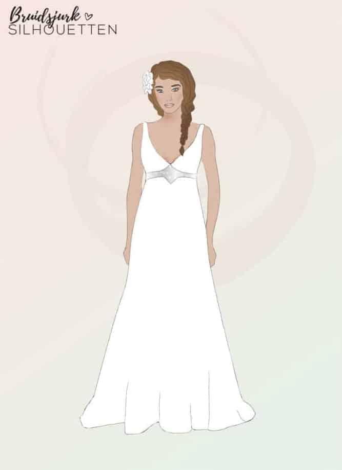 Empire silhouet trouwjurk Honeymoon shop