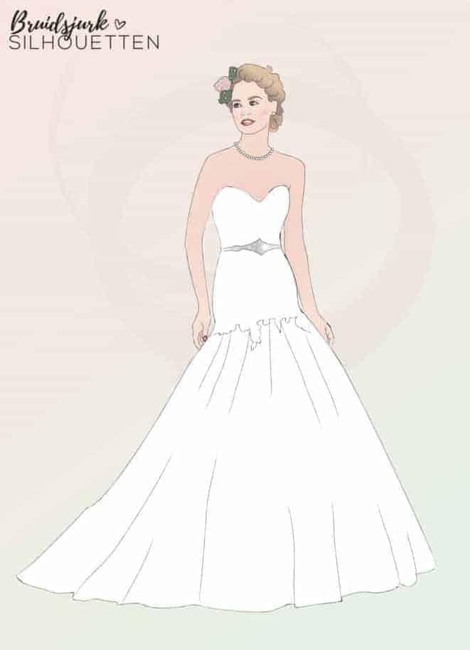 Fit & Flare silhouet trouwjurk Honeymoon shop