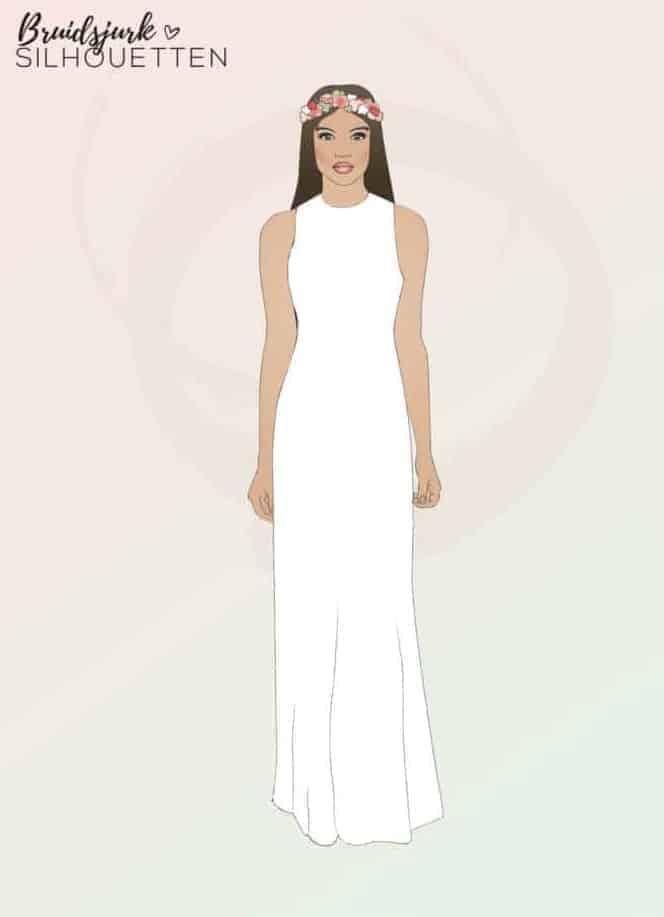 Recht silhouet trouwjurk Honeymoon shop